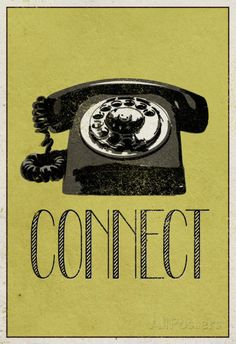 Connect Retro Telephone Player Art Poster Print Photo at AllPosters.com