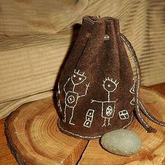Stone Painting, Bucket Bag, Textiles, Handmade, Bags, Handbags, Hand Made, Fabrics, Bag