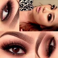 ✨✨Chocolate smokey eye  // substitute your black eyeshadow for a dark brown shadow for a more subtle smokey eye look