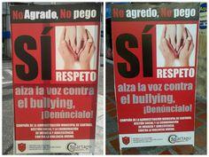 Campaña de Alcaldía de Cartago en #CartagoSeRepeta denuncia #bullying buena esa!!