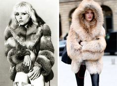 From left to right:Fashion icon, Debbie Harry (Blondie), in 1970 wearing a…