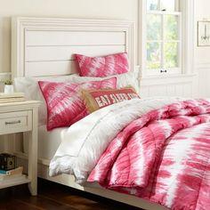Tatum Tye-Die Quilt, Twin, Pink Magenta