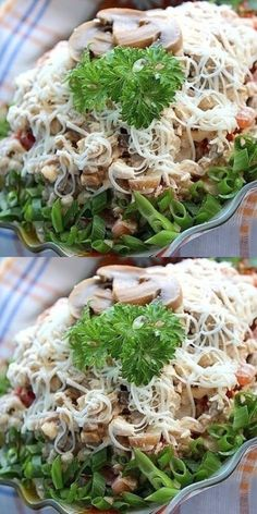 """I assure you this is the most delicious salad in the world!- I assure you this is the most delicious salad in the world! С …- I assure you this is the most delicious salad in the world! Salad """"alex"""" # alex # you # delicious # world # salad Crockpot Recipes For Two, Lunch Recipes, Fall Recipes, Chicken Recipes, Cooking Recipes, Healthy Recipes, Pesto Salad, My Favorite Food, Food Photo"""