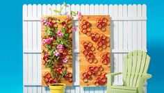 This is an amazingly easy project to complete. A few stained boards and painted pieces of PVC will complete your very own unique trellis idea for vines whether you place them along a porch wall or boundary fence.