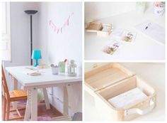 hacer banderines tela sin coser Office Desk, Diy, Textiles, Furniture, Ideas, Home Decor, Desks, Sew, Printables