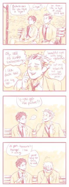 tumblr: alcieart . . haikyuu comic fanart bokuaka Oh Akaashi, I thought you're supposed to be smart...