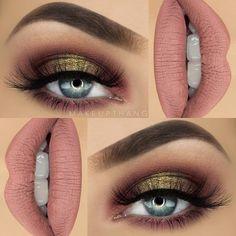 Pink and brown, soft plum, neutral makeup by - Makeup Tips Makeup Goals, Makeup Inspo, Makeup Inspiration, Makeup Tips, Beauty Makeup, Hair Makeup, Hair Beauty, Makeup Ideas, Neutral Makeup