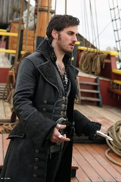 Captain Hook Once Upon a Time. First Loki then Khan. Now this?! Why do some villains have to look so good?