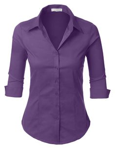 a49fa45b4f5 LE3NO Womens Short Sleeve Button Down Shirt ( 19) ❤ liked on ...