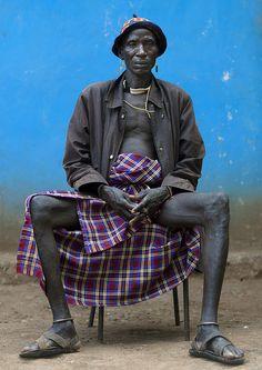 Bodi tribe man - Ethiopia  © Eric Lafforgue www.ericlafforgue.com