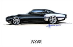 Chip Foose Sketches For Sale | Chip Foose's Wheels Sketches | Dumage