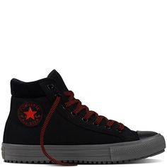 Chuck Taylor All Star Converse Boot PC Leather Black black/charcoal grey/signal red