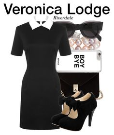 Veronica Lodge - Riverdale by nerd-ville on Polyvore featuring WearAll, Valentino, Blue Nile and CÉLINE