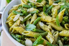 Almonds add fiber and protein to this healthy pasta dish.