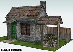 PAPERMAU: The Old Stone House With Well Paper Model - by Papermau - Download Now!