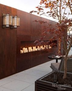 corten steel curved retaining wall - Google Search