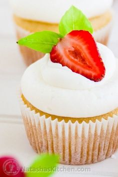 Our go-to cupcake frosting. This whipped cream and cream cheese frosting is perfect for cupcakes or cakes! Way better than store-bought cupcake frosting.