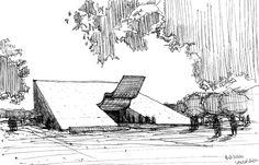 oscar niemeyer - concept sketch