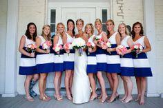 Annapolis Yacht Club Wedding Blog-Wedding Savvy Inc. Wedding Savvy Consulting Preppy navy and white bride and bridesmaid