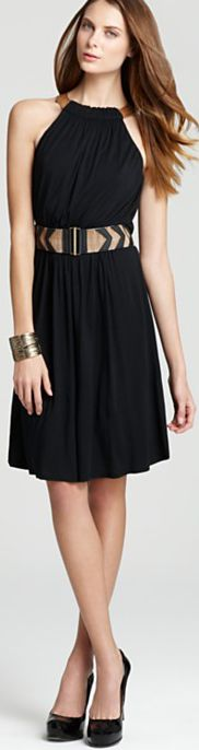 Flattering belt, perfect length, can't go wrong with black.