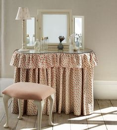 #thedormyhouse Covers for kidney or rectangular dressing tables