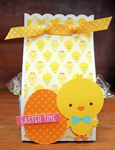 Easter Treat Boxes by Kathy Skou Hoppy Easter, Easter Chick, Easter Card, Paper Craft Making, Crafts For Seniors, World Crafts, Easter Treats, Paper Decorations, Cardmaking
