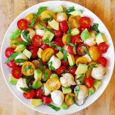 Tomato Basil Avocado Mozzarella Salad with Balsamic Dressing - Julia's Album