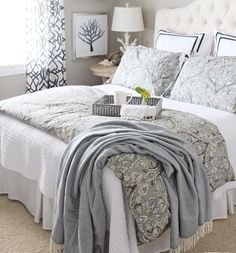 This gorgeous duvet cover and shams that I added to our guest bedroom, in beautiful indigo blue and cream, is on sale now - plus FREE shipping! What a great way to give your bedroom an instant makeover and sleep on some beautiful soft bedding for a great night's sleep! See it here: http://liketk.it/2oNDv @liketoknow.it #liketkit
