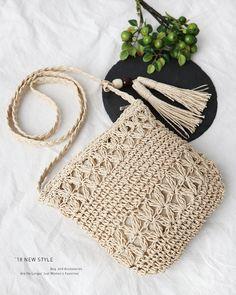 Marvelous Crochet A Shell Stitch Purse Bag Ideas. Wonderful Crochet A Shell Stitch Purse Bag Ideas. Crochet Purse Patterns, Crochet Tote, Crochet Handbags, Crochet Purses, Diy Crochet, Crochet Crafts, New Style Bags, 0 Bag, Crochet Shoulder Bags