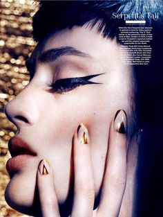 The Illustrated Nail - Art of Darkness, Stylist Magazine. Nails by...