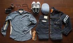 Momotaro / Japan Blue / Okayama Denim Raw Denim, Denim Jeans Men, Vintage Denim, Vintage Fashion, Momotaro Jeans, Cold Wear, Japanese Denim, Outfit Grid, Denim Outfit