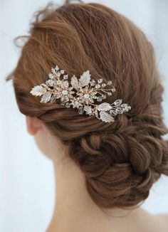 Floral Wedding Hair, Wedding Hair Clips, Headpiece Wedding, Floral Hair, Bridal Hair, Hair Piece, Wedding Hairstyles, Crystal Wedding, Savannah