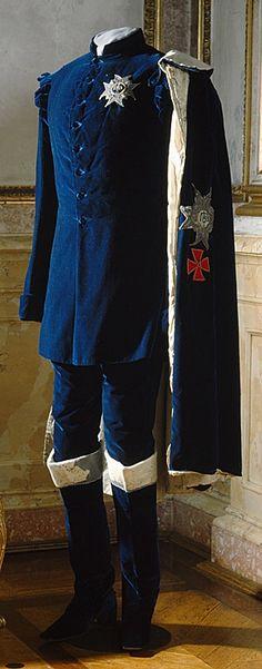 Garment belonged to Oscar I, worn at his coronation at September 28, 1844.