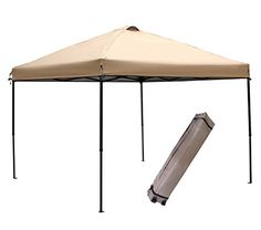 Canopies, Gazebos and Pergolas - Abba Patio 10 x 10Feet Outdoor Pop Up Portable Shade Instant Folding Canopy with Roller Bag Tan >>> You can find out more details at the link of the image. (This is an Amazon affiliate link)
