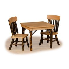 Bring the beauty of the outdoors into your home with this one-of-a-kind masterpiece crafted from naturally cured hickory.  Finely made by the Pennsylvania Amish, this Children's Table Set will last for generations.