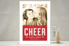 Sending Cheer Holiday Photo Cards by b.wise papers at minted.com