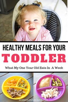 Stuck in a rut with meal ideas for your toddler? Look no further! Here is a list of some healthy toddler meals that my 1 year old eats throughout the week. Hint: I even meal prep to make it easier! 1 Year Old Meals, Meals For The Week, 1 Year Old Meal Ideas, Healthy Toddler Meals, Kids Meals, Toddler Menu, Baby Meals, Toddler Food, Healthy Meals