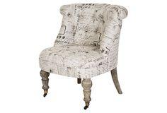 Amelie Slipper Chair on OneKingsLane.com