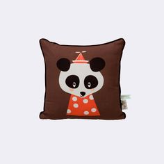 ferm living panda cushion