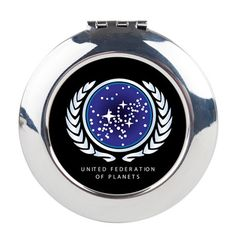 United Federation of Planets Round Compact Mirror on CafePress.com
