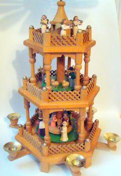 german Creche Nativity | Vintage Christmas Decor NATIVITY Creche German Erzgebirge Expertic ...