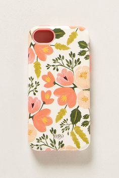 Pretty Painted Poppies iPhone 5C Case from anthropologie