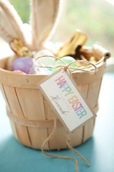 natural easter basket.I use these bushel baskets for my kiddos Easter baskets, love them :)