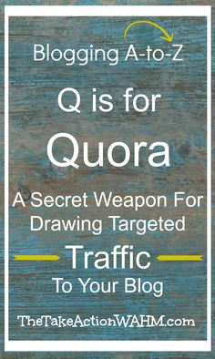 The best traffic is targeted traffic - you want to attract visitors who are interested in what you write about. You also want to be seen as an expert in your niche - let me show you how to do it with the Q and A site Quora. Click to read now or repin for later!