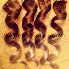4 Clip Ombre Hair Extensions by letyourhairdown on Etsy