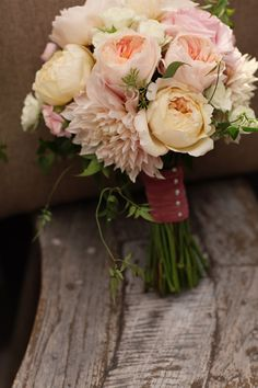 Rustic Chic Montana Wedding Michele M. Waite  - bridal bouquet