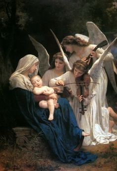 FRENCH PAINTERS: William-Adolphe BOUGUEREAU Song of the Angels