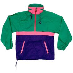 Classic 90s KWay Windbreaker S by NeonStockyards on Etsy ($45) ❤ liked on Polyvore featuring outerwear, jackets, tops, coats & jackets, windbreaker jacket, green windbreaker, green windbreaker jacket, wind breaker jacket and green jacket