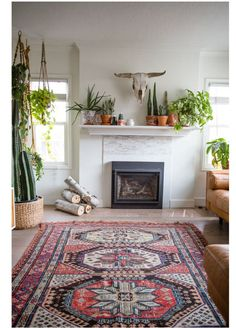 Beautiful Bohemian living style displaying artsy rug designs with exotic pattern Image 35 - SHAIROOM. Bohemian Living, Boho Living Room, Home And Living, Living Room Decor, Bohemian Decor, Modern Bohemian, Elderly Home, Piece A Vivre, Living Styles