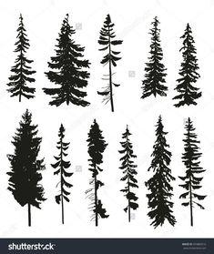 """Képtalálat a következőre: """"tree vector stencil"""""""